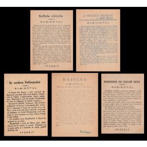 Lot 5 Programe cinema, reclame filme, cinematografe romanesti anii 30
