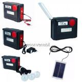 Kit Solar Lanterna LED, 3 Bec, Radio, SD, 12V 8A, 12V 220V YJ1980TSYK