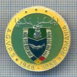 AX 147 INSIGNA VANATOARE SI PESCUIT SPORTIV PERIOADA RSR -A.G.V.P.S -1948-1988