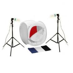 Kit pentru fotografie produs cort 40cm+stativ250cm+bec85W