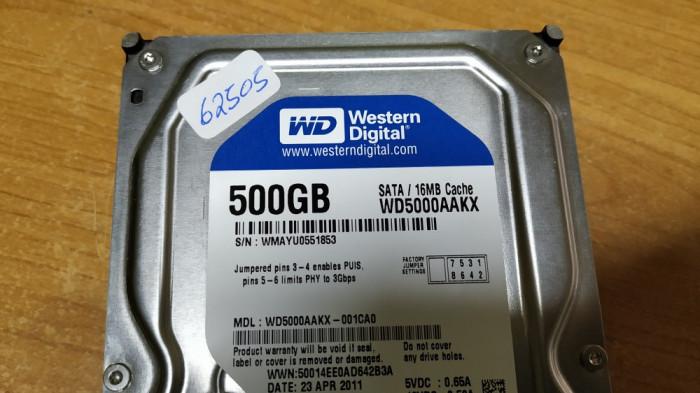 HDD PC Western Digital 500GB Sata #62505LOR
