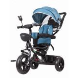 Tricicleta copii cu sezut rotativ Ecotoys JM-066-9 - Albastru/Verde