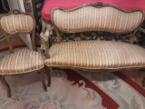 salonas/canapea+scaune(fotolii) baroc/Ludovic,antic/vintage