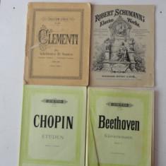 Partituri-Beethoven;Chopin;Schumann si Clementi