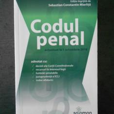 SEBASTIAN CONSTANTIN MIERLITA - CODUL PENAL (2016)