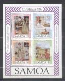 Samoa 1985 Christmas, paintings, set+perf. sheet, MNH S.312
