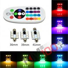 Set LED-uri RGB SOFIT 36mm pentru plafoniera cu telecomanda.