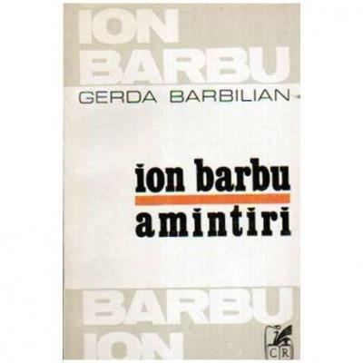 Ion Barbu - Amintiri foto