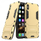 Husa KRASSUS pentru iPhone XS Max hibrid antishock, auriu