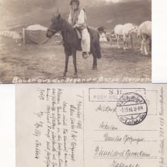Maramures - Borsa - tigani - militara,razboi,foto WWI, Circulata, Printata