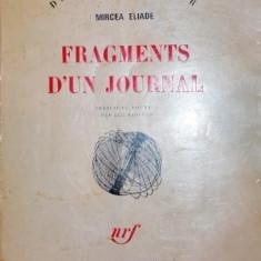 FRAGMENTS D UN JOURNAL - MIRCEA ELIADE