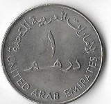 Moneda 1 dirham 1973 - Emiratele Arabe Unite
