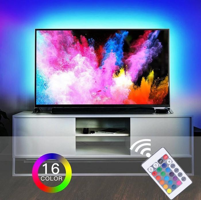 KIT Banda LED TV pentru iluminare ambientala AMBILIGHT spate TV alimentare USB