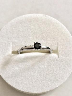 BLACK DIAMOND - Diamant Negru Inel Argint 0.23 ct foto