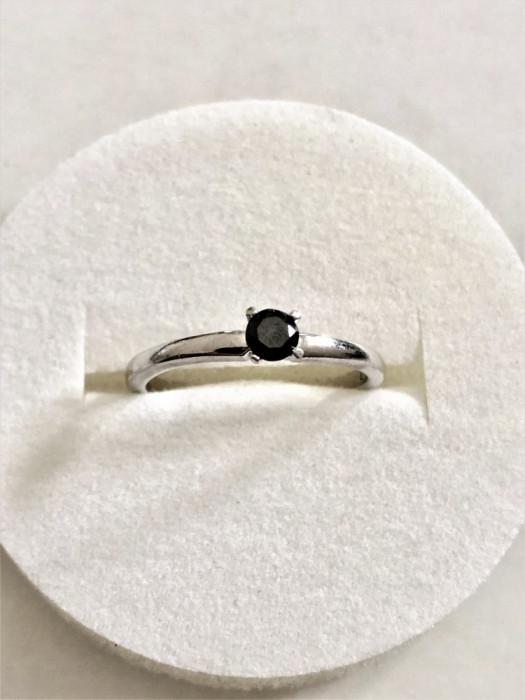 BLACK DIAMOND - Diamant Negru Inel Argint 0.23 ct