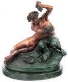Doi indragostiti  - statueta din bronz pe soclu din marmura BM5920