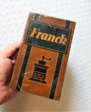 Cumpara ieftin Cutie veche de cafea Franck, cutie veche din tabla cu reclama interbelica