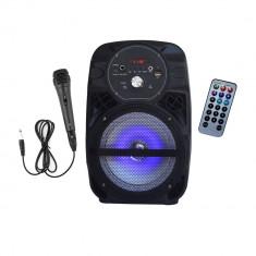 Boxa Activa Cu Statie Tip Troller Premium Sound cu Bluetooth , Radio FM , USB , Card , Telecomanda
