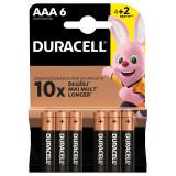 Set 6 baterii alcaline Duracell, LR03, blister