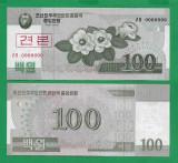= COREA DE NORD - 100 WON - 2008 - SPECIMEN - UNC   =