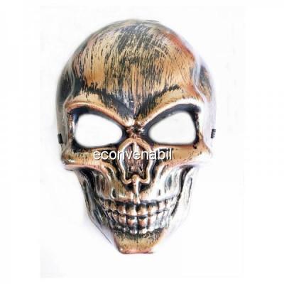Masca de Halloween si Carnaval Bronz Aspect Metalic foto