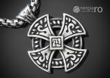 Medalion Pandantiv Cruciulita Cruce Celtica INOX - cod PND340