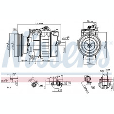 Compresor AC clima LAND ROVER FREELANDER; MG MG TF, MG ZR, MG ZS, MG ZT, MG ZT- T; ROVER 75 1.6 1.8 intre 1998-2009