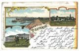 824 - TURNU-SEVERIN, Litho, Romania - old postcard - used - 1898, Circulata, Printata