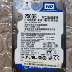 HDD hard disk laptop WD2500BEVT-22A23T0 Western Digital 250GB SATA 3.0 Gbps 2.5