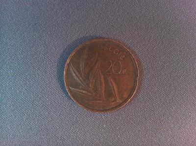 Monedă Belgia 20 franci 1981 foto