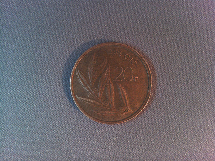 Monedă Belgia 20 franci 1981