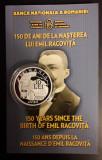 10 LEI 2018 PROOF - EMIL RACOVITA - 150 DE ANI DE LA NASTERE, Argint