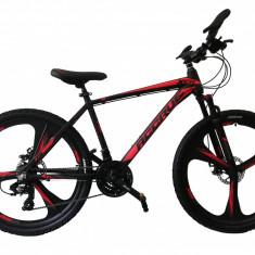 """Bicicleta MTB Umit Accrue 2D , Cadru 18"""" , 21 Viteze , Culoare Negru/Rosu Roata PB Cod:2656000000"""