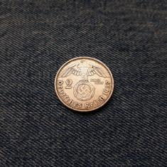 #5 Germania 2 Reichsmark 1937 a, marci germane argint WW2 mark