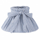 Abajur veioza textil albastru alb Ø 22x13 cm E14 Elegant DecoLux