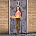 Perdea anti-ţânţari pt. uşi cu închidere magnetică 100 x 210 cm, Model fluturi violeţi Best CarHome