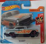 Hot Wheels Flames, '55 Chevy, 2018, sigilat