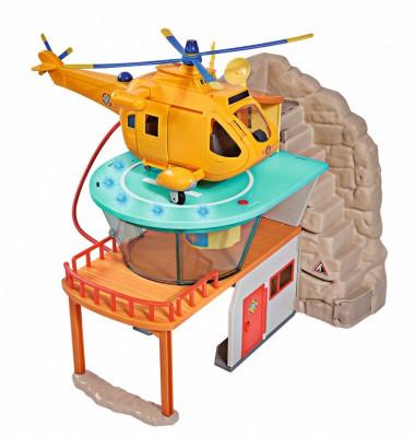Set de joaca cu figurina Pompierul Sam si statia de salvare montana foto