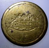 7.826 JETON MAREA BRITANIE CLACTON PIER NO 1 NORTH SEA 27mm