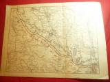 Harta Militara Romaneasca - Situatia Frontului la 12 iul.1917 ,dim=33x24cm
