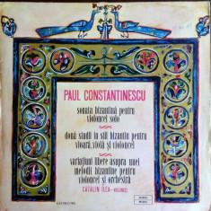 DISC LP:PAUL CONSTANTINESCU-SONATA BIZANTINA/DOUA STUDII/VARIATIUNI/STM-ECE01188