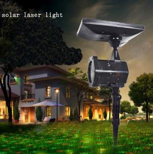 Proiector laser Craciun, exterior / interior, rosu + verde, cu panou solar