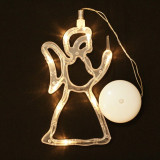 Ingeras LED, decoratiune fereastra de Craciun, 19cm, Home