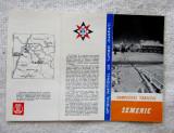 Semenic-Complexul Turistic.Pliant ONT Carpati.Cabane din anii '60.Foarte Rar.