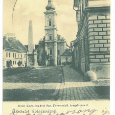 4996 - CLUJ, Church, Romania - old postcard - used - 1902