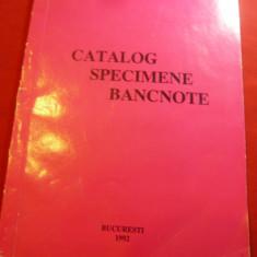 Banca Comerciala Romana - Catalog Specimene Bancnote 1992 , 50 pag, ilustratii