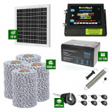 Pachet Gard electric 6,6j putere cu Panou Solar si 4000m de fir 120Kg