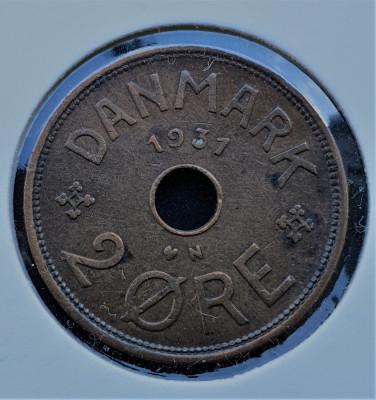 Danemarca 2 Ore - Christian X 1931 - transport gratuit foto