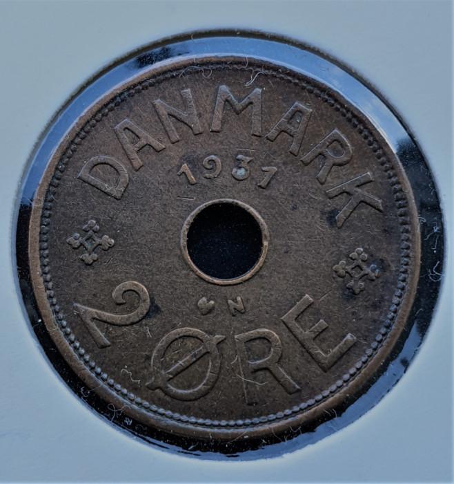 Danemarca 2 Ore - Christian X 1931 - transport gratuit