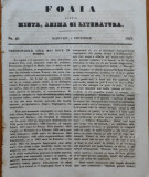 Ziarul Foaia pentru minte , inima si literatura , nr. 49 , 1853